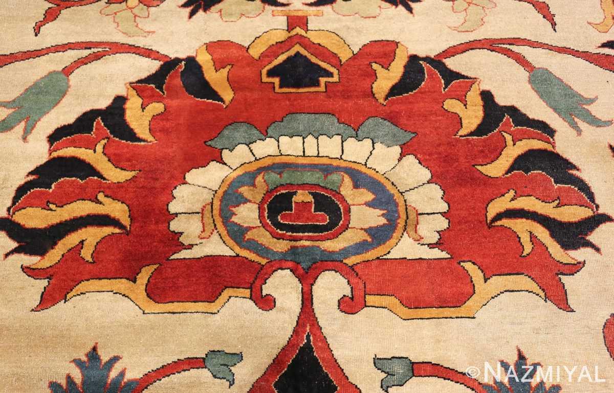 large oversized antique persian sarouk farahan carpet 46926 side Nazmiyal