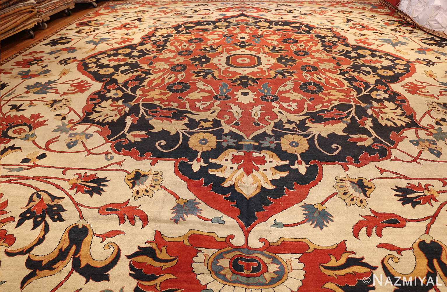 large oversized antique persian sarouk farahan carpet 46926 whole Nazmiyal