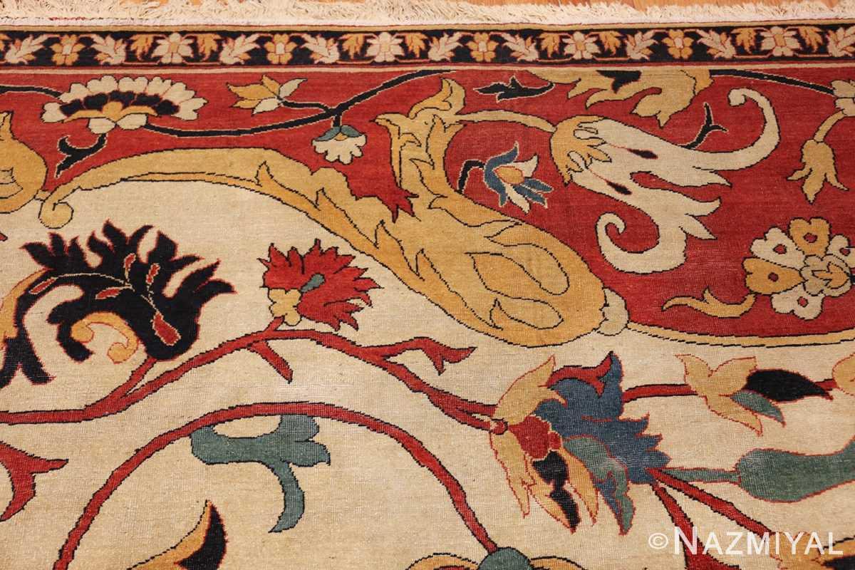 large oversized antique persian sarouk farahan carpet 46926 yellow Nazmiyal