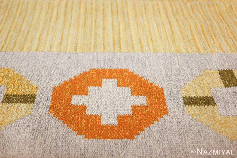 vintage barbro spinchorn swedish kilim rug 48188 border Nazmiyal
