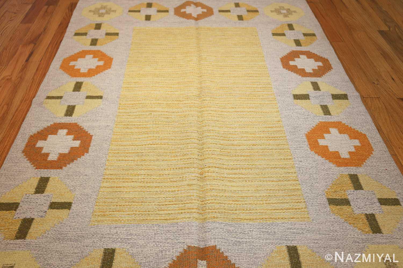 vintage barbro spinchorn swedish kilim rug 48188 field Nazmiyal