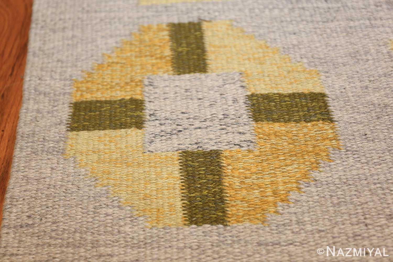 vintage barbro spinchorn swedish kilim rug 48188 green Nazmiyal