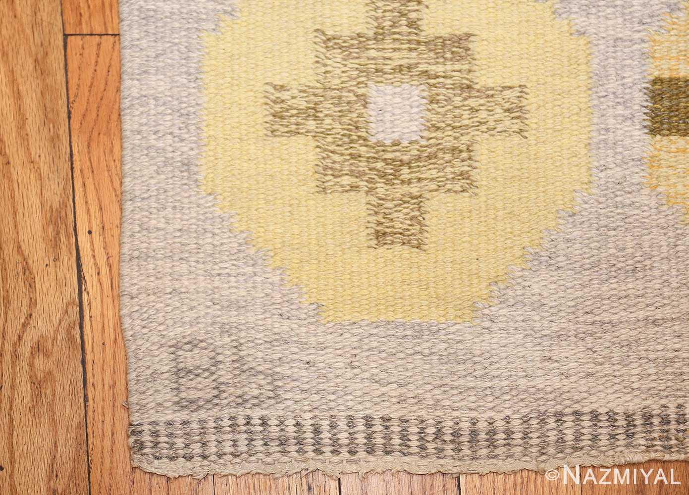 vintage barbro spinchorn swedish kilim rug 48188 initials Nazmiyal