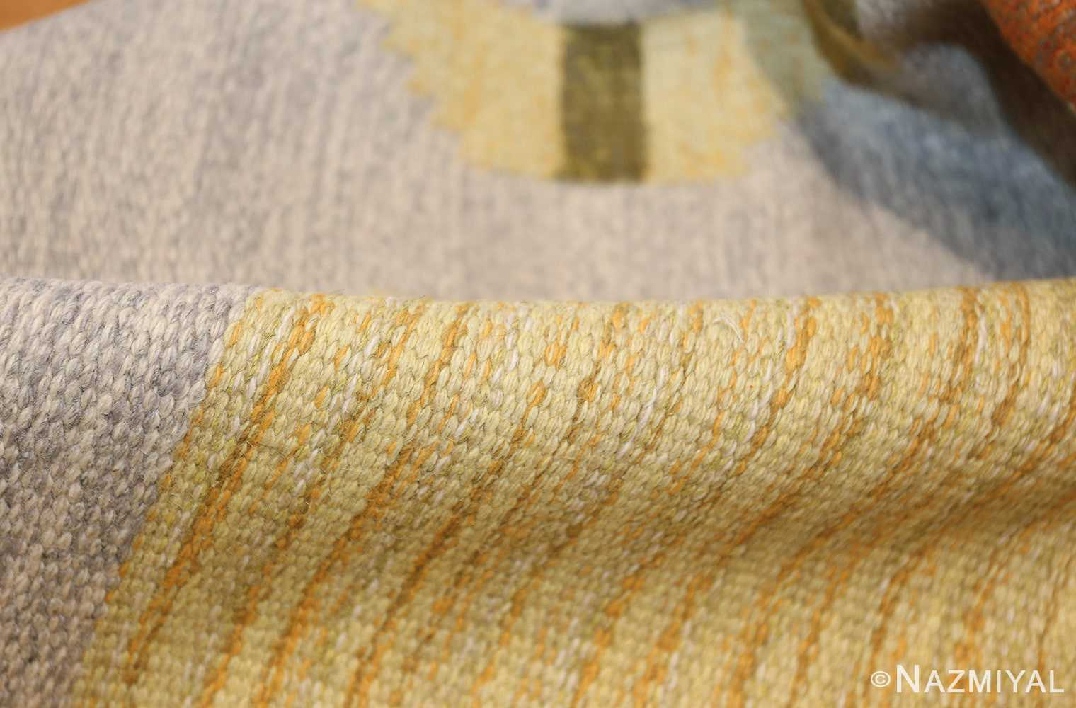 vintage barbro spinchorn swedish kilim rug 48188 pile Nazmiyal