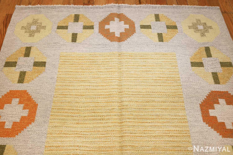 vintage barbro spinchorn swedish kilim rug 48188 top Nazmiyal