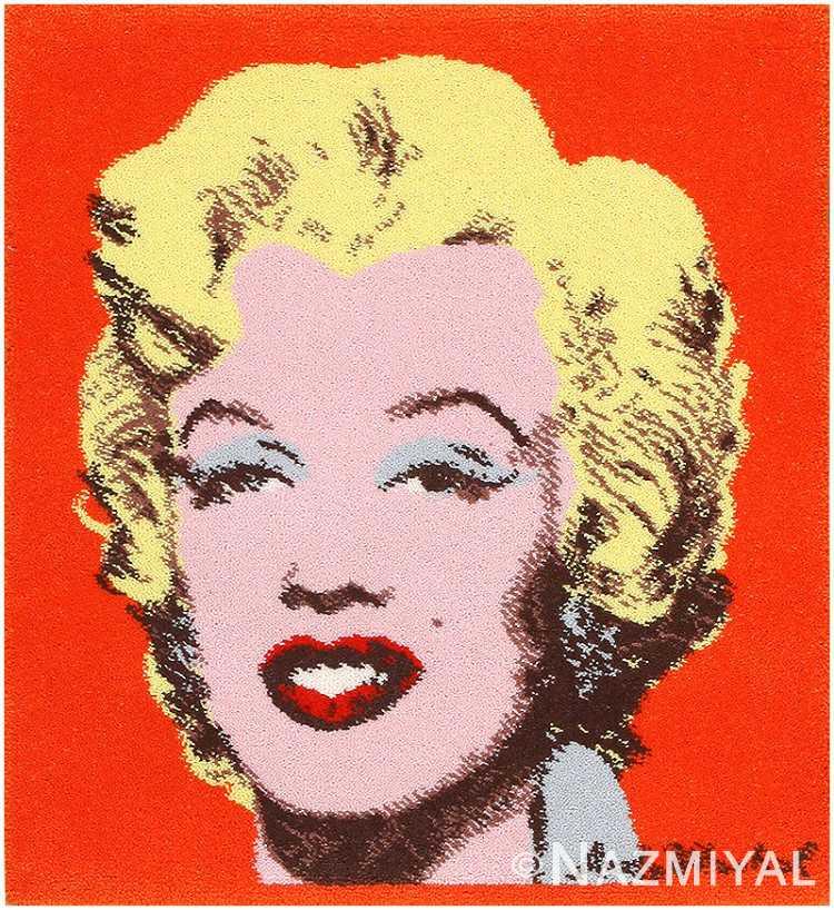 Vintage Marilyn Monroe Rug by Andy Warhol 48213 Nazmiyal