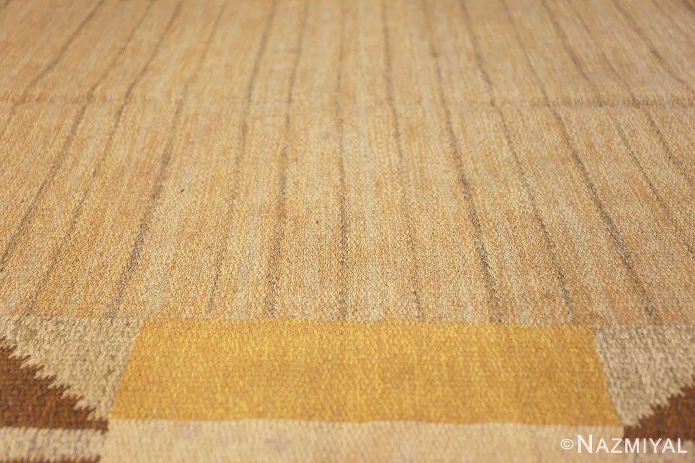 vintage mid century scandinavian swedish kilim rug 48117 lines Nazmiyal