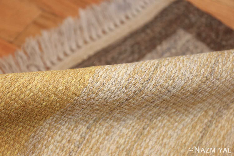 vintage mid century scandinavian swedish kilim rug 48117 pile Nazmiyal