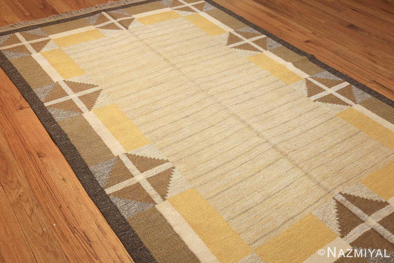 vintage mid century scandinavian swedish kilim rug 48117 side Nazmiyal