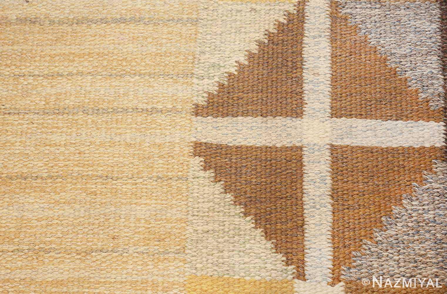 vintage mid century scandinavian swedish kilim rug 48117 texture Nazmiyal