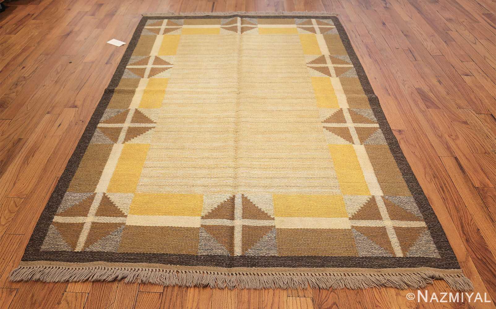 vintage mid century scandinavian swedish kilim rug 48117 whole Nazmiyal