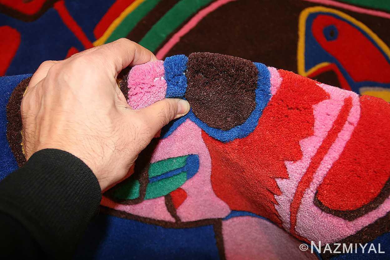 vintage round corneille rug 48201 pile Nazmiyal