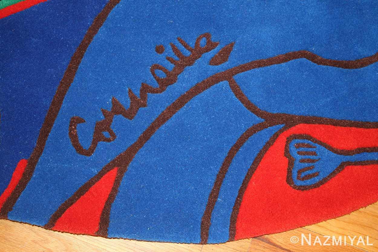 vintage round corneille rug 48201 signature Nazmiyal