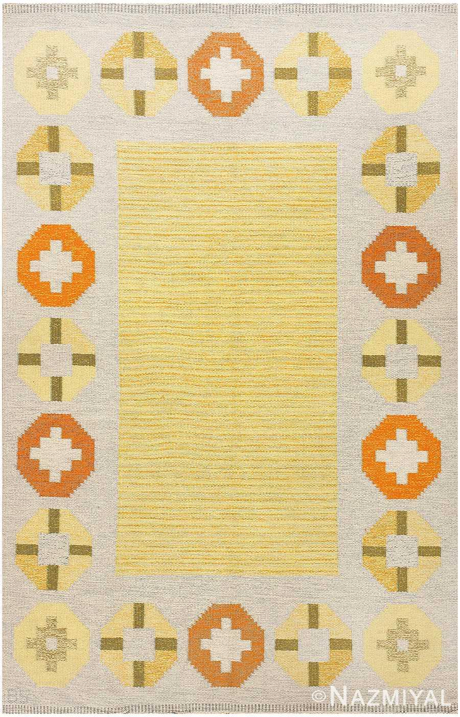 Vintage Swedish Kilim 48188 by Barbro Spinchorn Nazmiyal