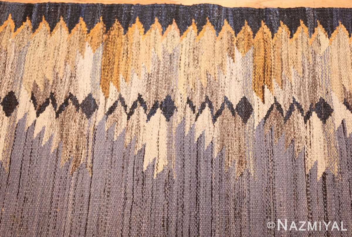 vintage swedish kilim 48200 border Nazmiyal