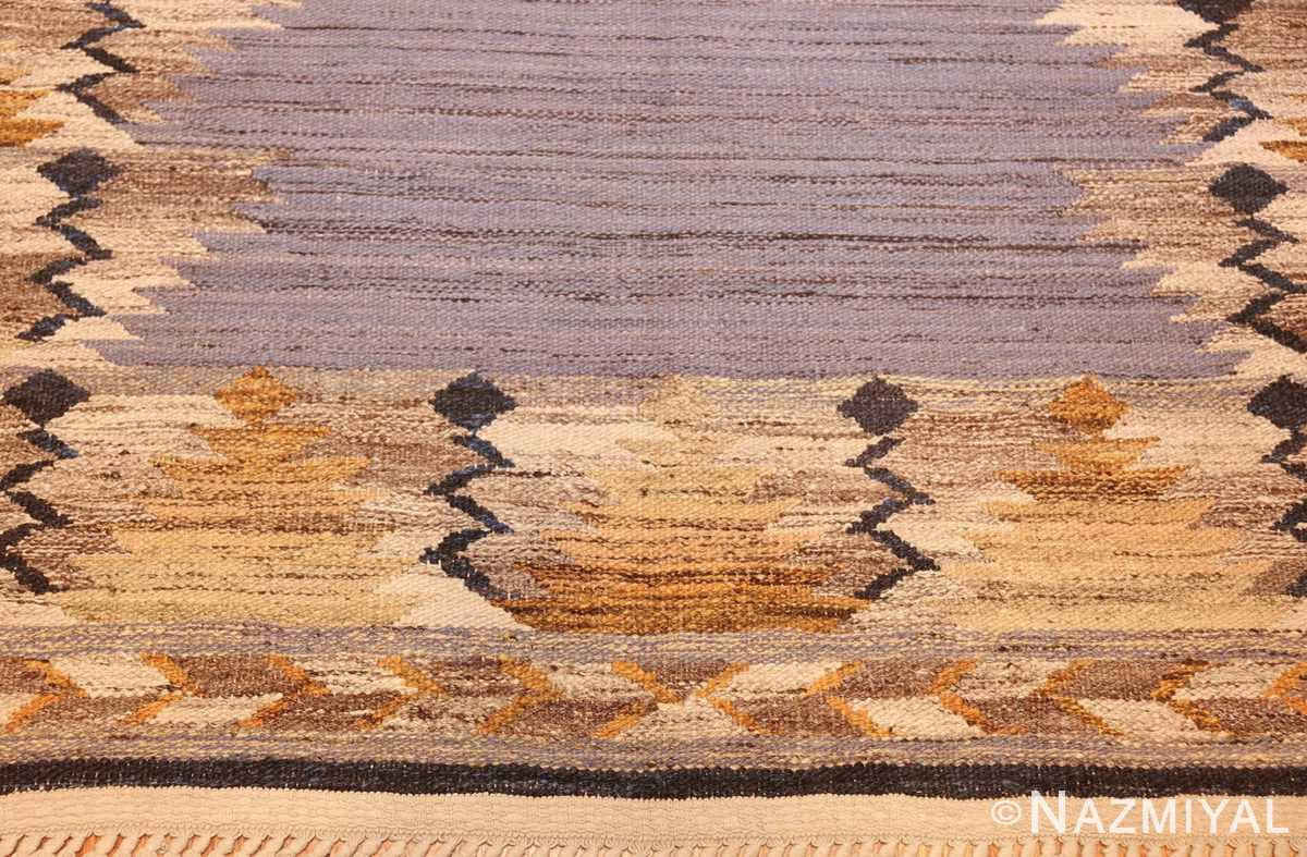 vintage swedish kilim 48200 design Nazmiyal