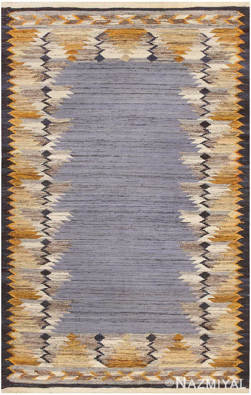 Vintage Swedish Kilim 48200 Detail/Large View