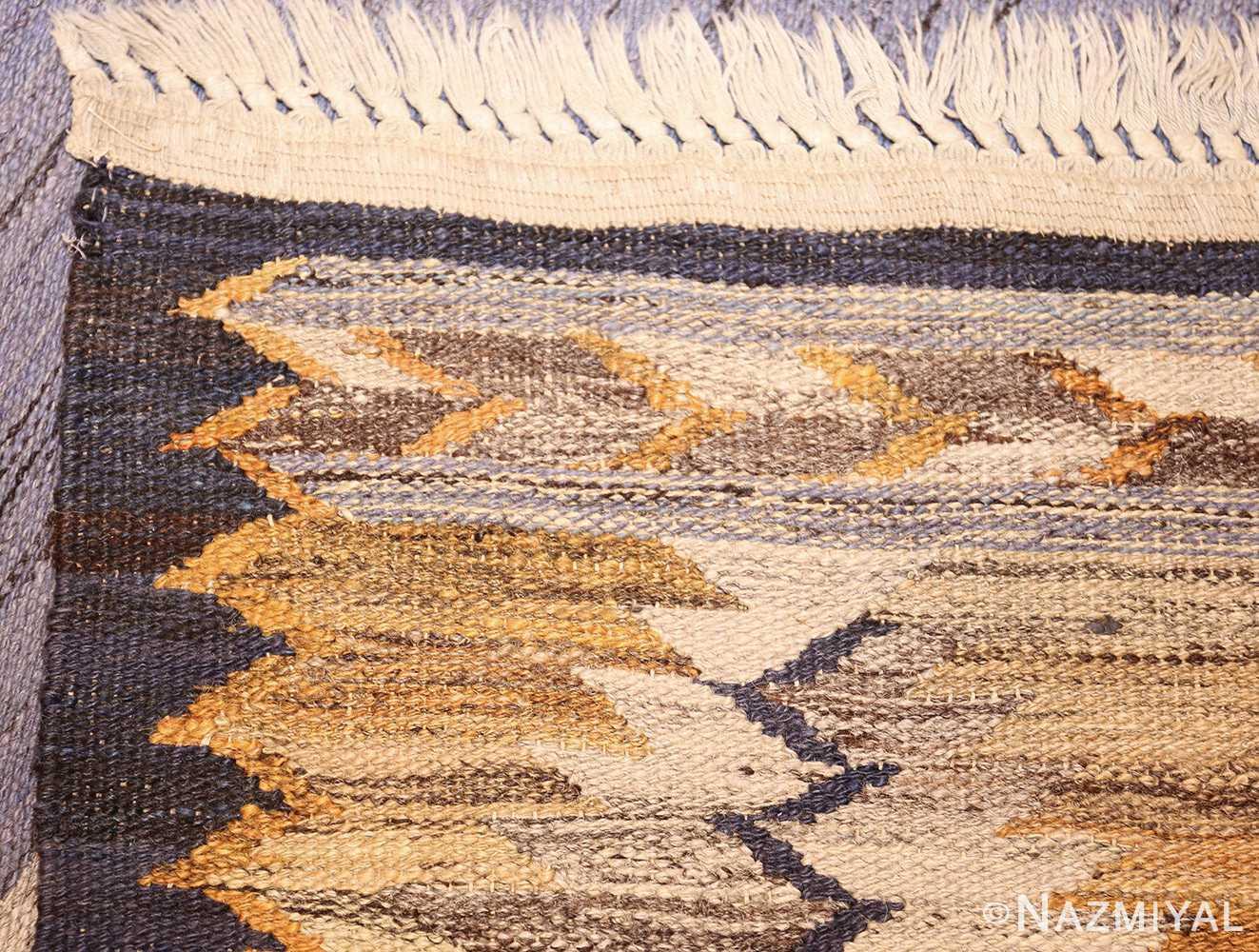 vintage swedish kilim 48200 weave Nazmiyal