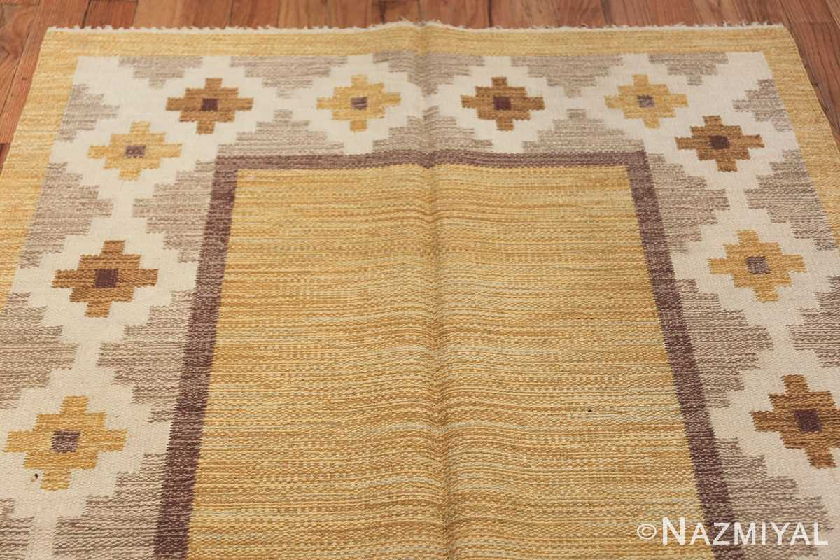 Vintage Swedish Kilim 48202 Top Design Nazmiyal
