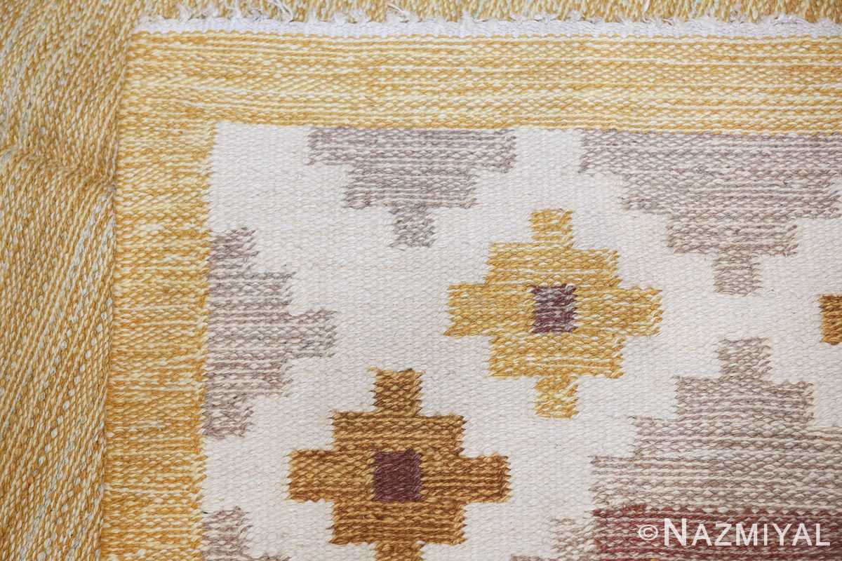 Vintage Swedish Kilim 48202 Woven Knots Nazmiyal