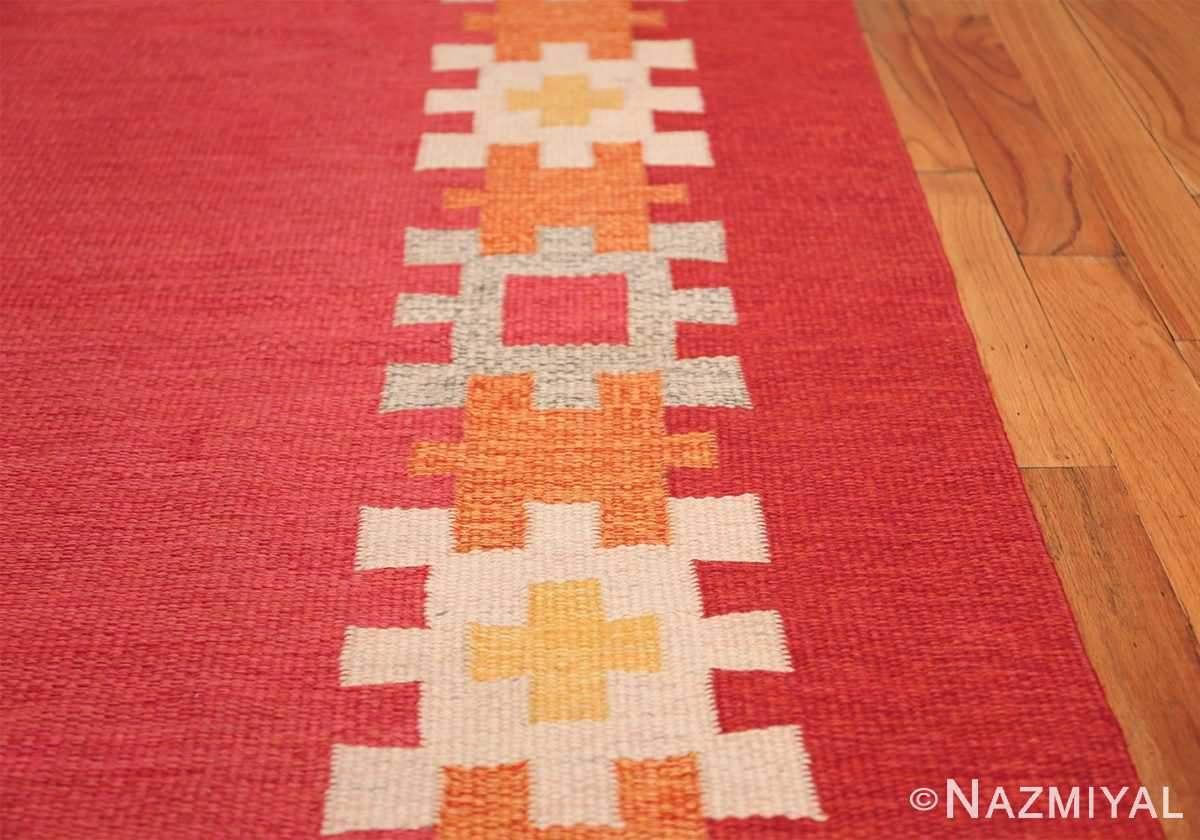 vintage swedish kilim by ingegerd silow 48189 border Nazmiyal