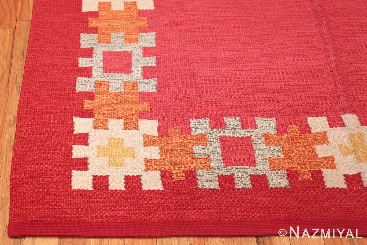 vintage swedish kilim by ingegerd silow 48189 corner Nazmiyal