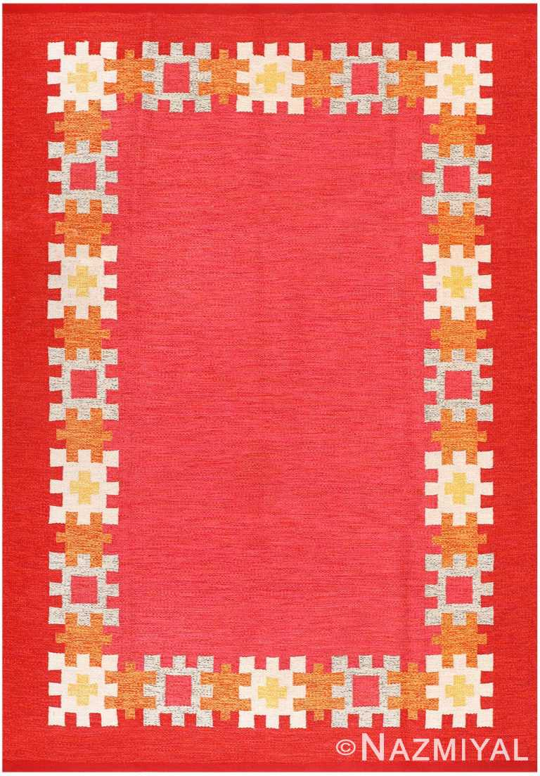 Vintage Swedish Kilim by Ingegerd Silow 48189 Nazmiyal