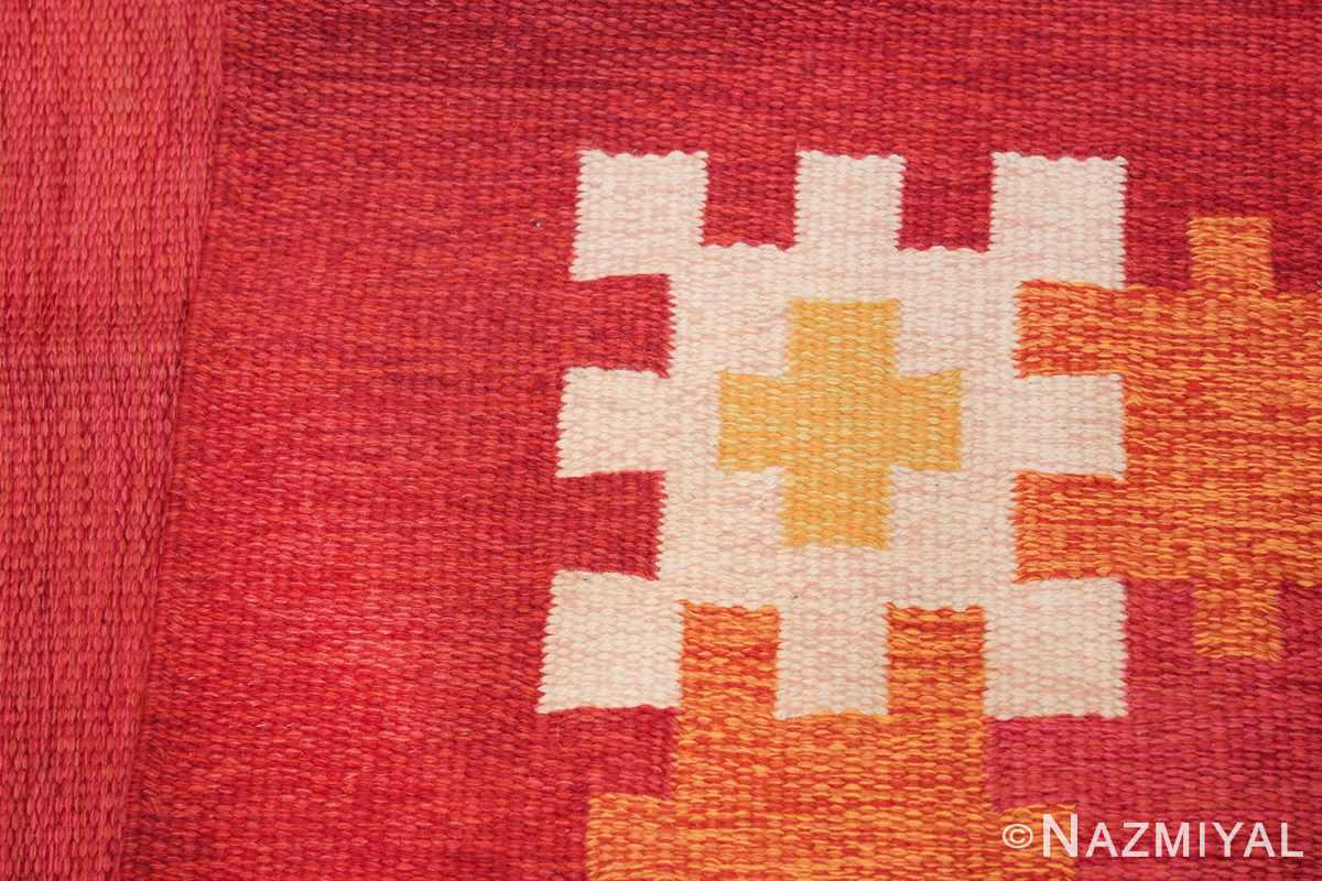 vintage swedish kilim by ingegerd silow 48189 knots Nazmiyal