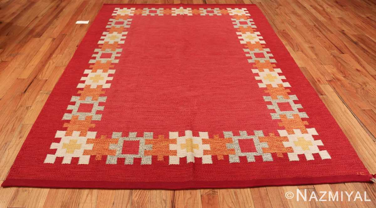 vintage swedish kilim by ingegerd silow 48189 whole Nazmiyal