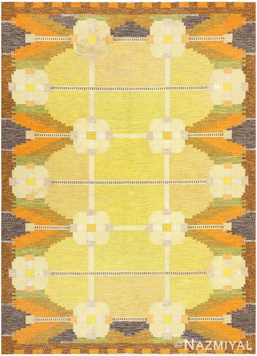 Vintage Swedish Kilim by Ingegerd Silow 48198