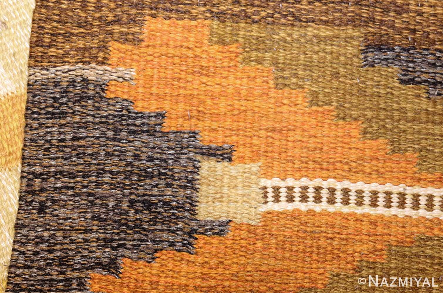vintage swedish kilim by ingegerd silow 48198 weave Nazmiyal