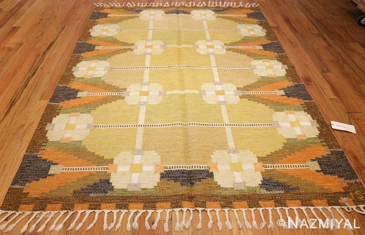 vintage swedish kilim by ingegerd silow 48198 whole Nazmiyal