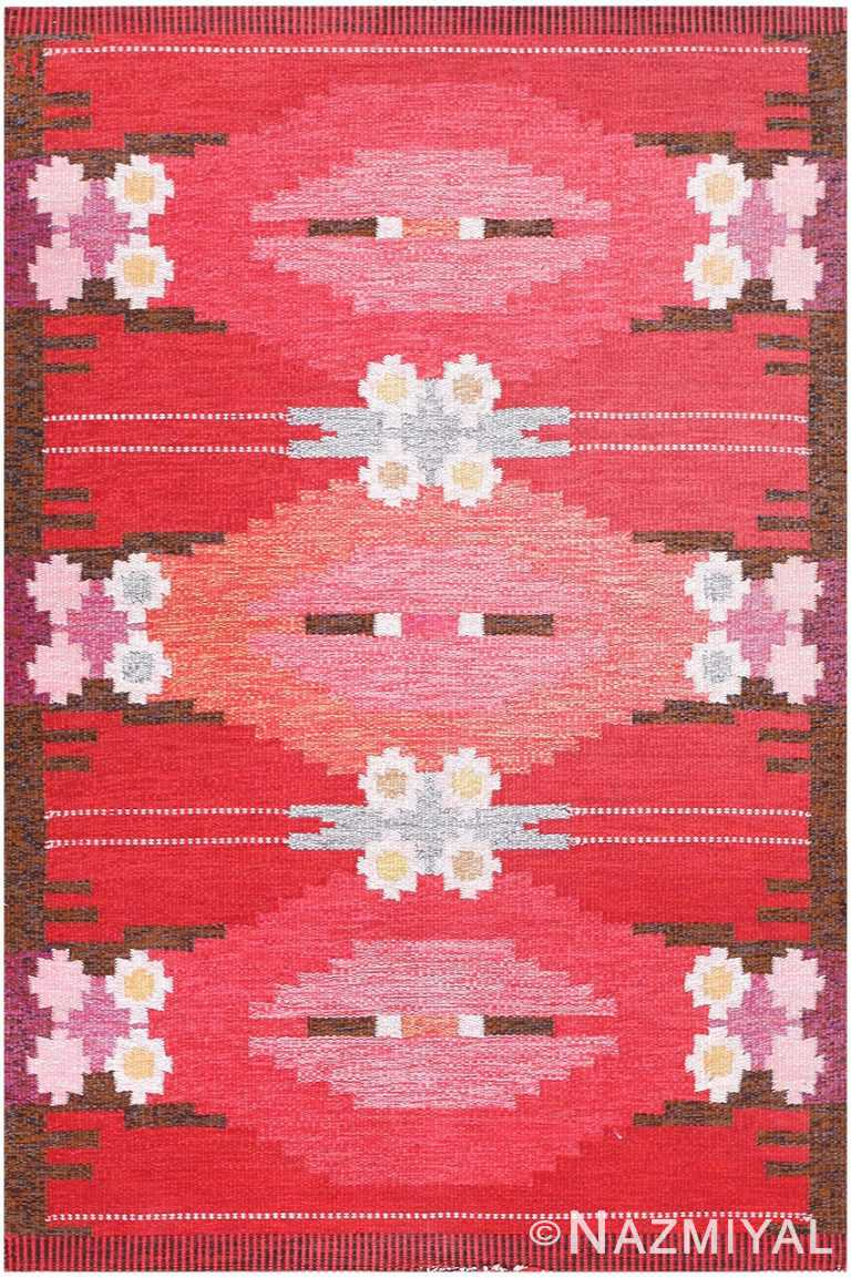 Vintage Swedish Kilim by Ingegerd Silow 48205 Nazmiyal