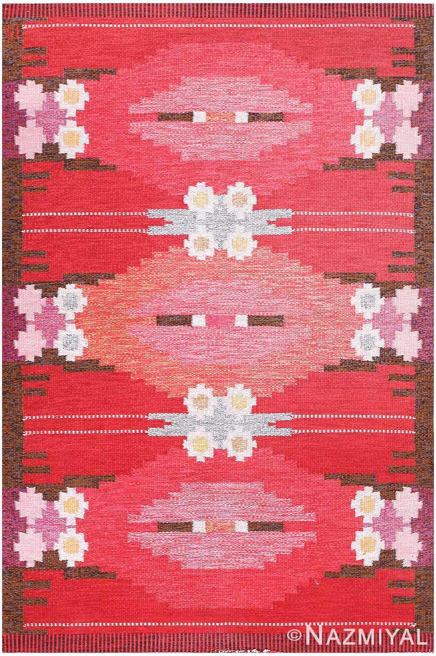 Vintage Swedish Kilim by Ingegerd Silow 48205 Nazmiyal