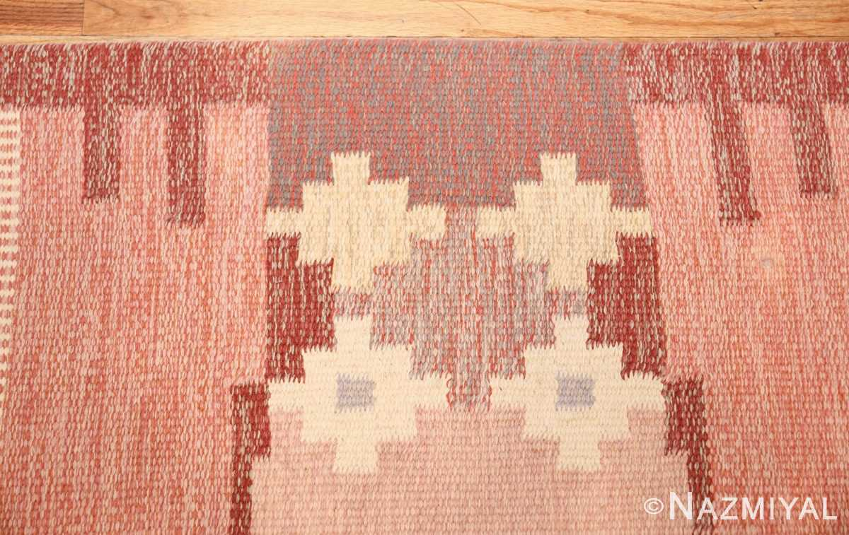 vintage swedish rug by ingegerd silow 48194 border Nazmiyal