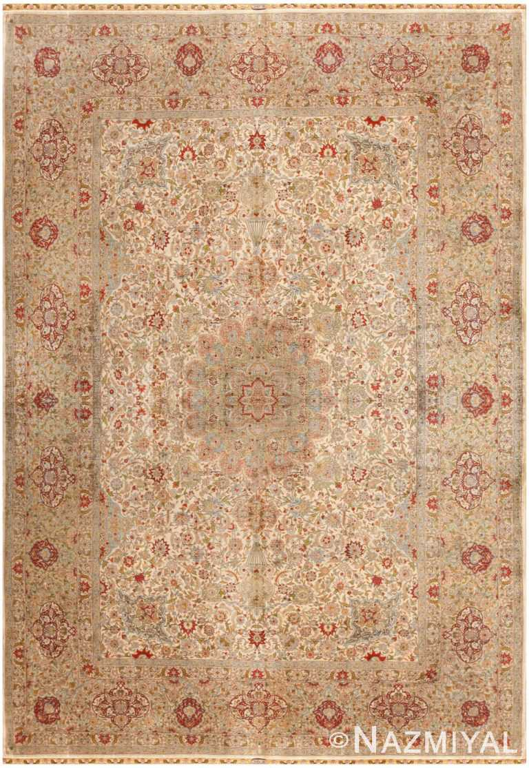 Vintage Turkish Silk Herekeh Rug 48038 Nazmiyal