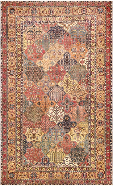 17th Century Persian Khorassan Carpet with Eight Pointed Stars by Nazmiyal