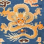 Antique Chinese Dragon Rug 48069