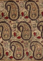 Paisley Design in Antique Persian Paisley Kerman Rug 1304