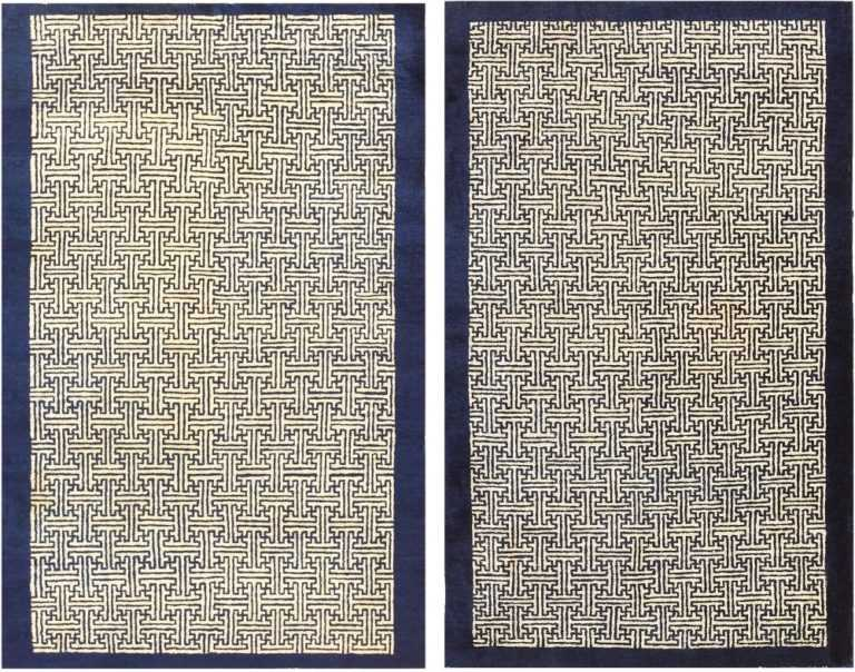Antique Chinese Rugs 48181 and 48182 Nazmiyal