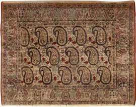 Antique Persian Paisley Kerman Rug 1304 Nazmiyal