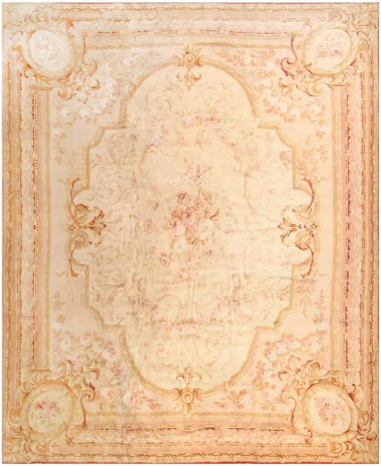 Antique Savonnerie European Rug 43688 Nazmiyal