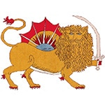Iranian Lion With Sword Symbol by Nazmiyal