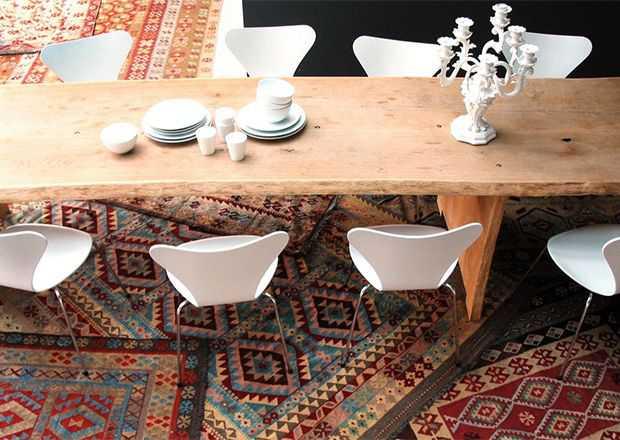 Rug Layering by Nazmiyal Antique Rugs