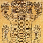 Tiger Symbol In Rugs by Nazmiyal