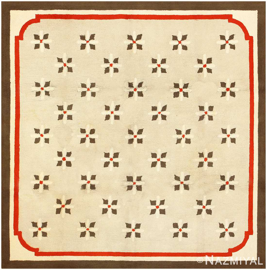 Antique Deco American Hooked Rug 2714 Nazmiyal