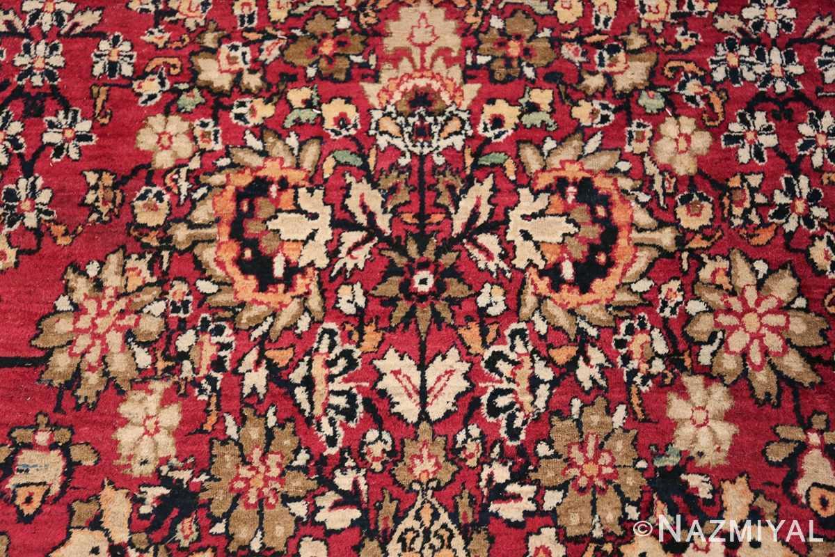 Antique Oversized Persian Kerman Carpet 48210 Bunch of Green Flowers Nazmiyal