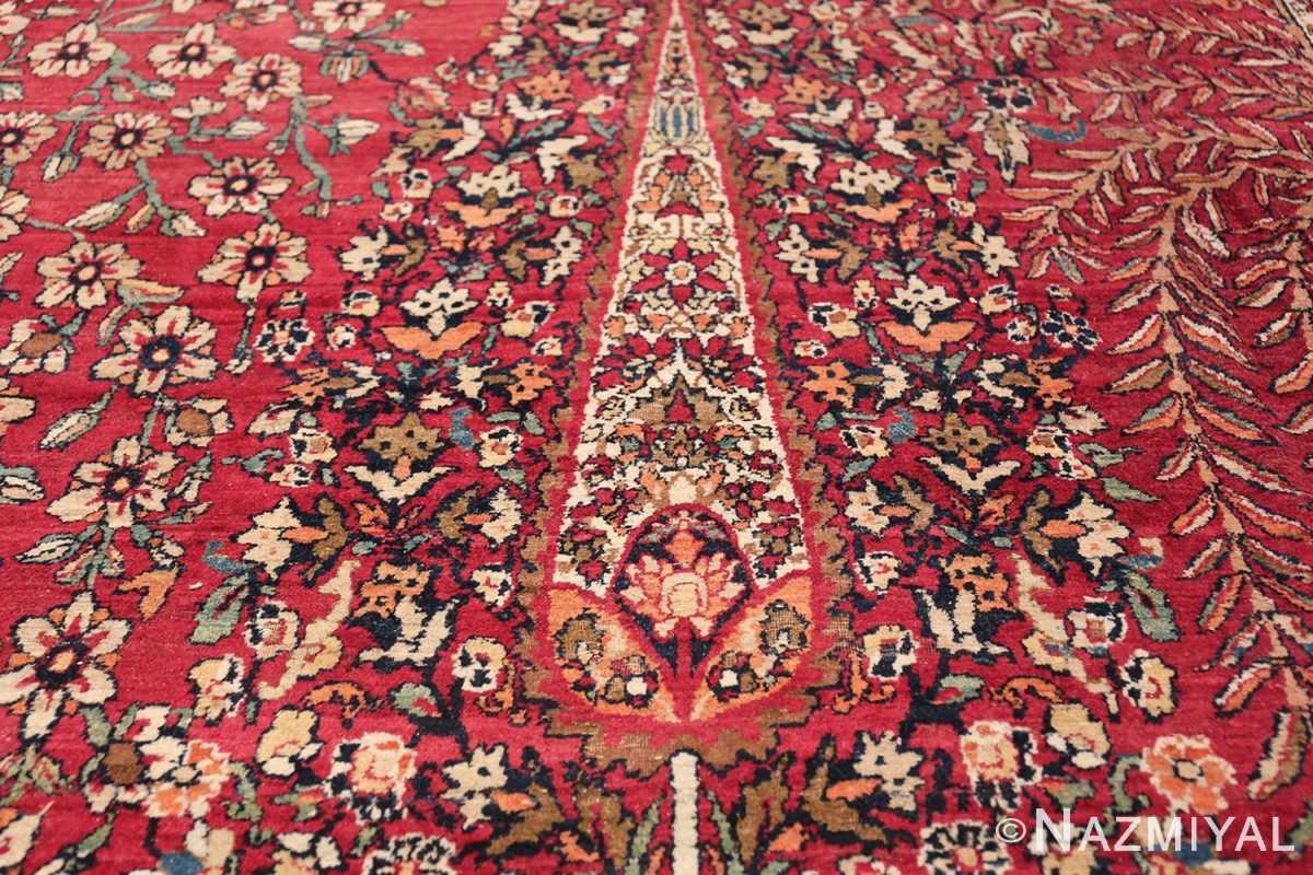 Antique Oversized Persian Kerman Carpet 48210 Decorative Ivory Pine Nazmiyal