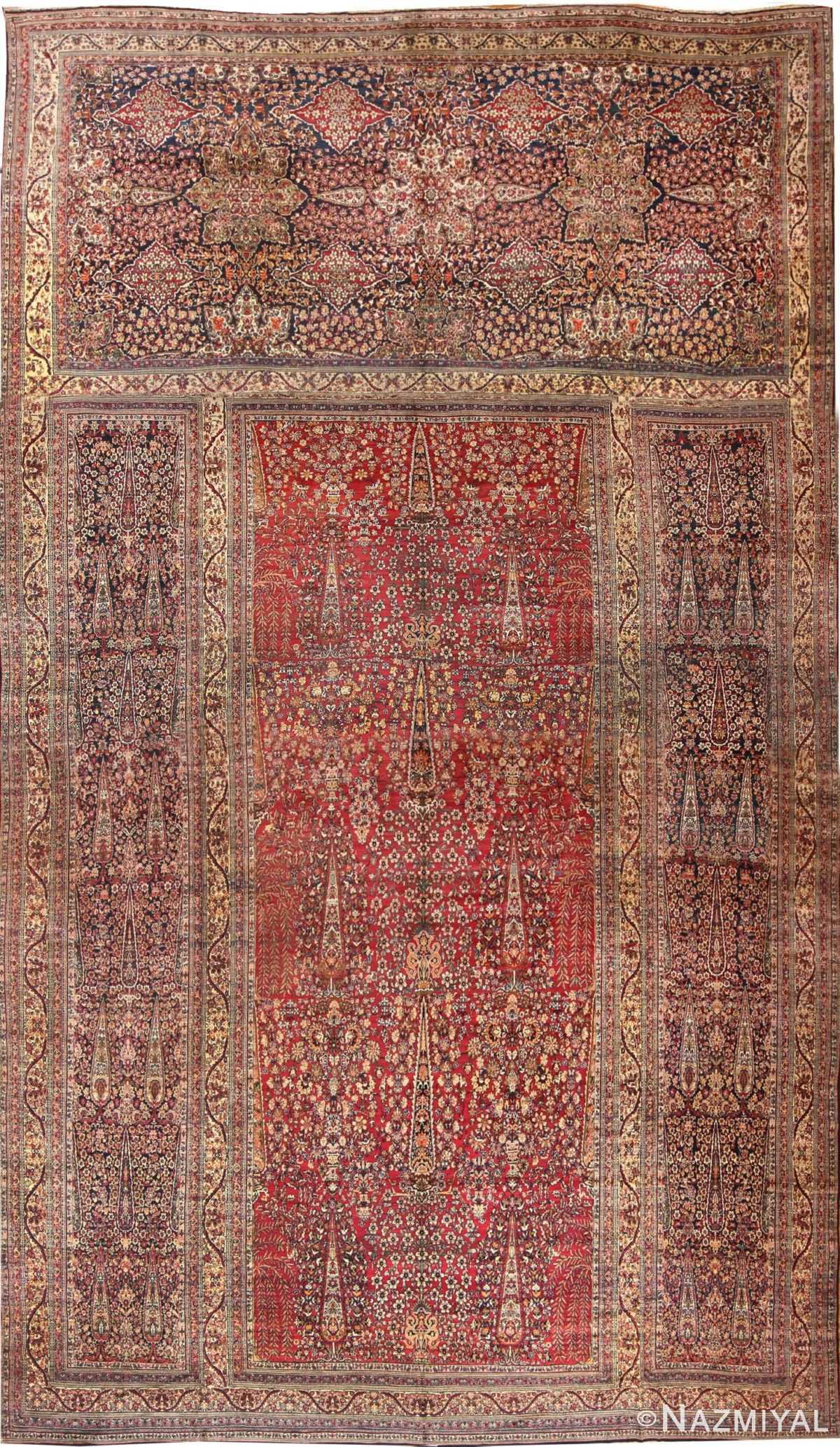 Antique Oversized Persian Kerman Carpet 48210 Nazmiyal