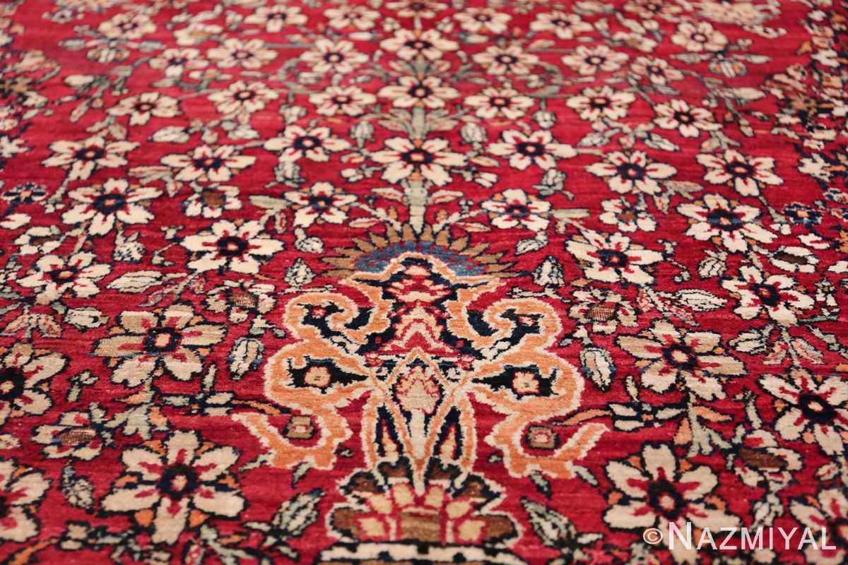 Antique Oversized Persian Kerman Carpet 48210 Orange Vase Nazmiyal